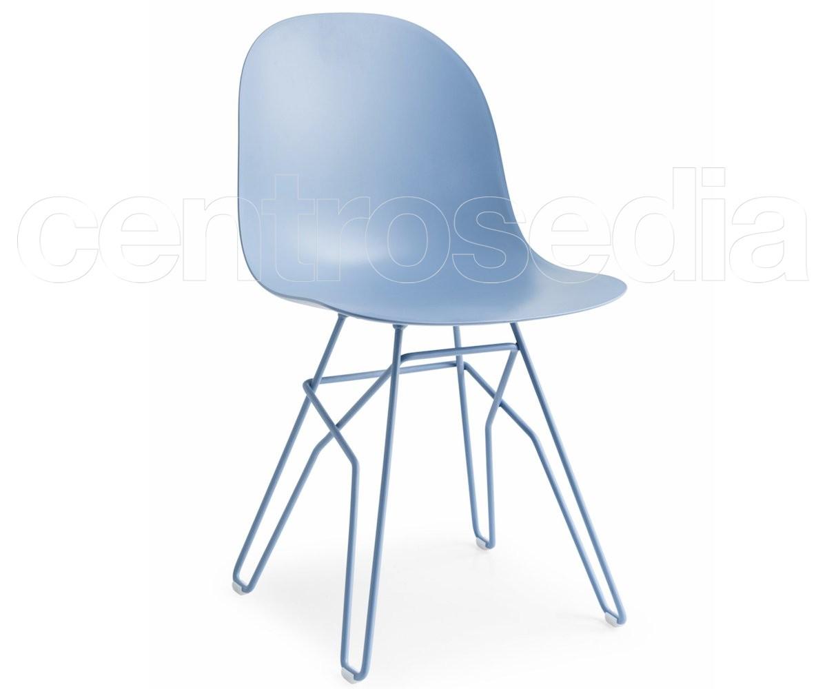 Academy sedia metallo polipropilene calligaris sedie design for Sedie design metallo