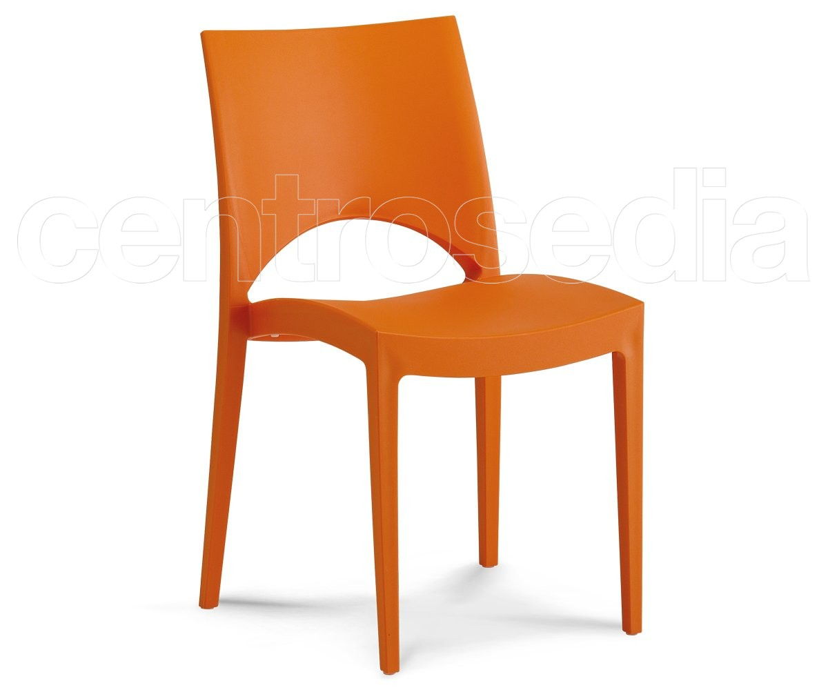 Chantal sedia polipropilene sedie plastica polipropilene for Sedia polipropilene