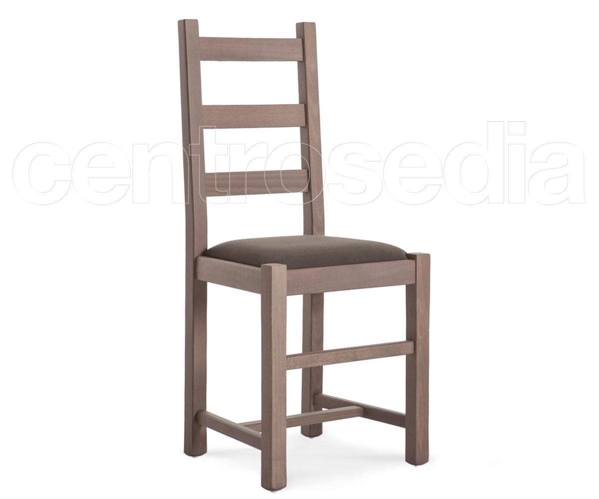 Sedie In Legno Imbottite.Rustica Sedia Legno Seduta Imbottita Sedie Legno Classico E Rustico