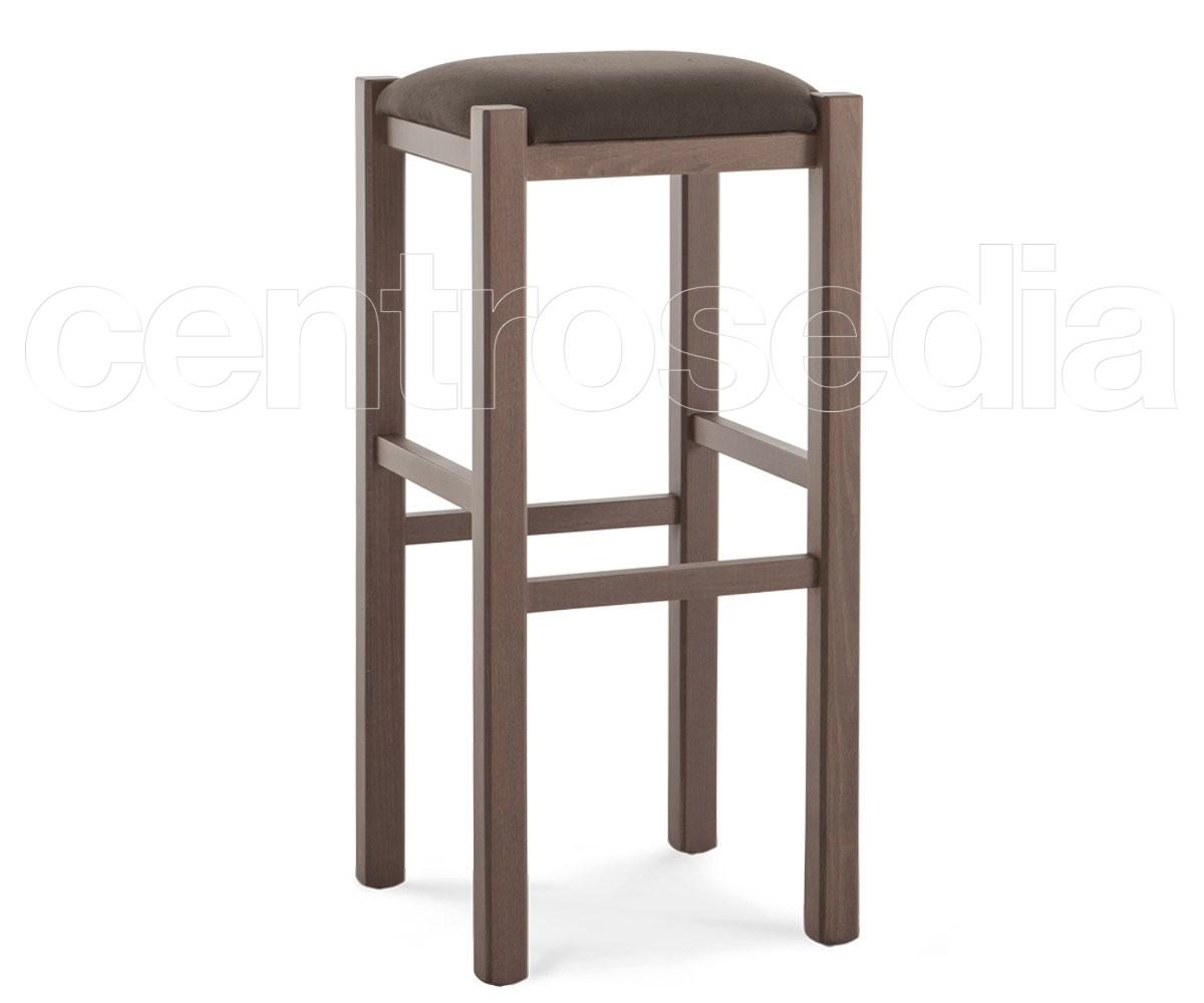 Rustico sgabello alto legno seduta imbottita sgabelli bar