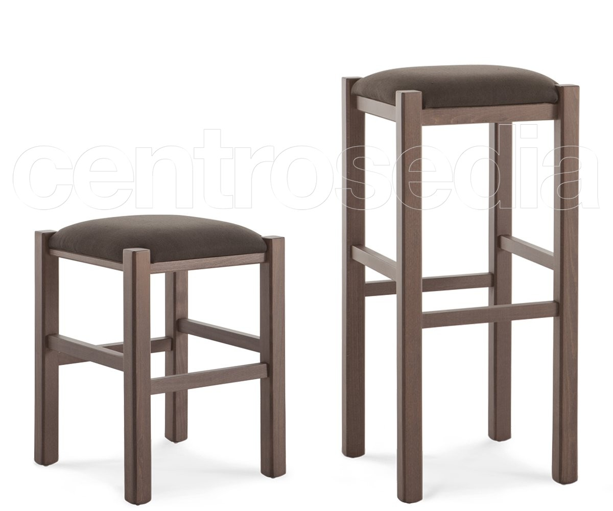 Rustico sgabello basso legno seduta imbottita sgabelli bar