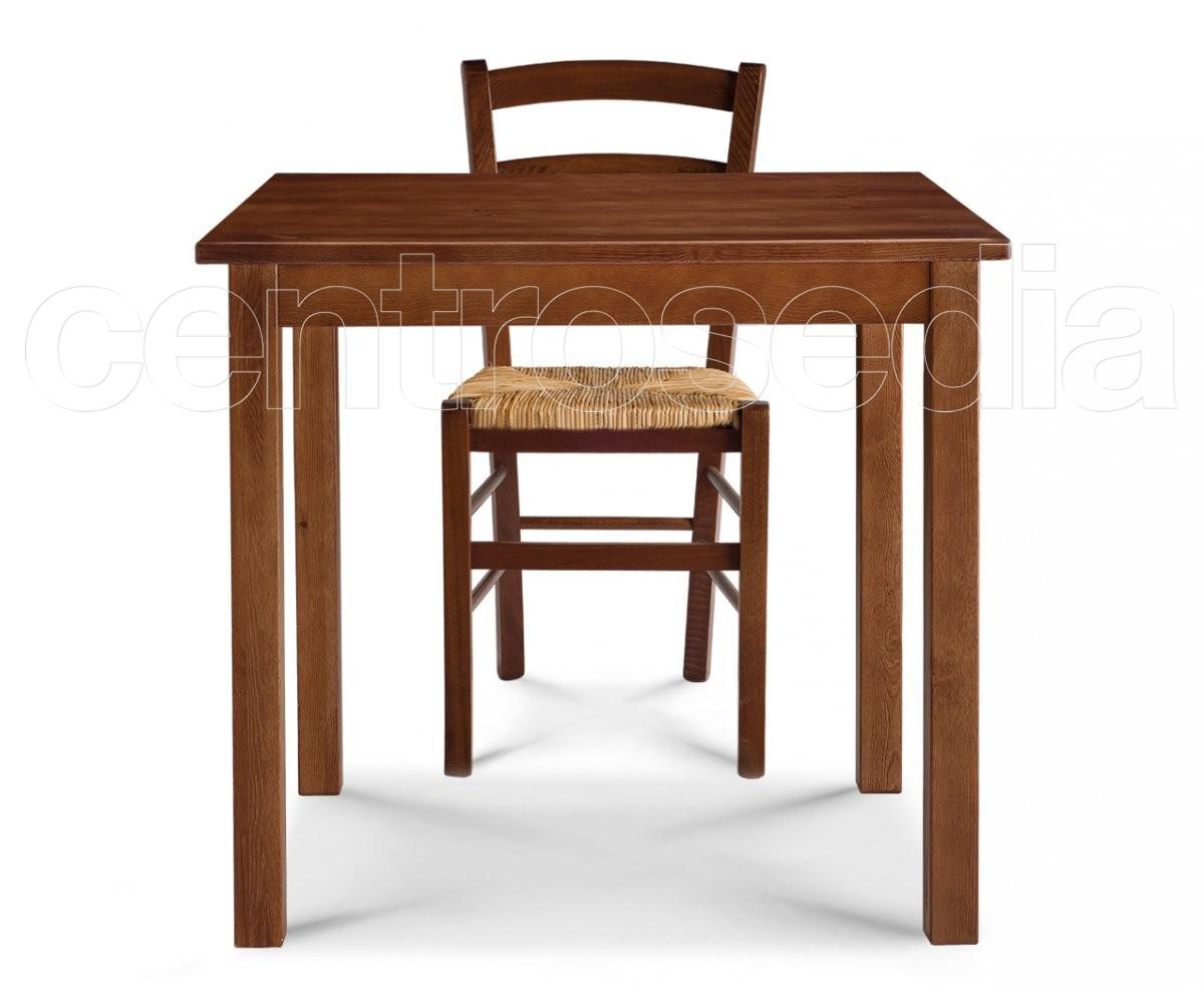 Risto tavolo legno quadrato tavoli legno - Tavoli rustici in legno ...