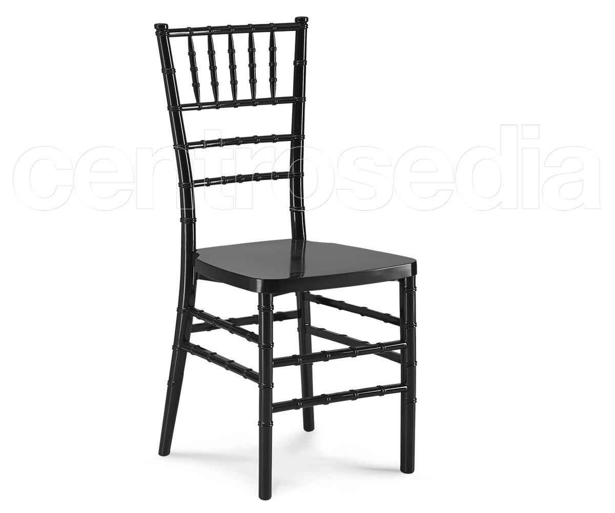Chiavarina sedia polipropilene nero sedie plastica for Sedia polipropilene