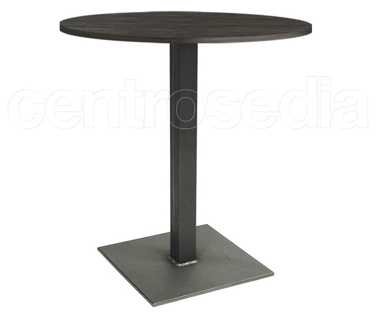 Joel tavolo metallo base quadrata tavoli vintage e for Tavolo 40x40