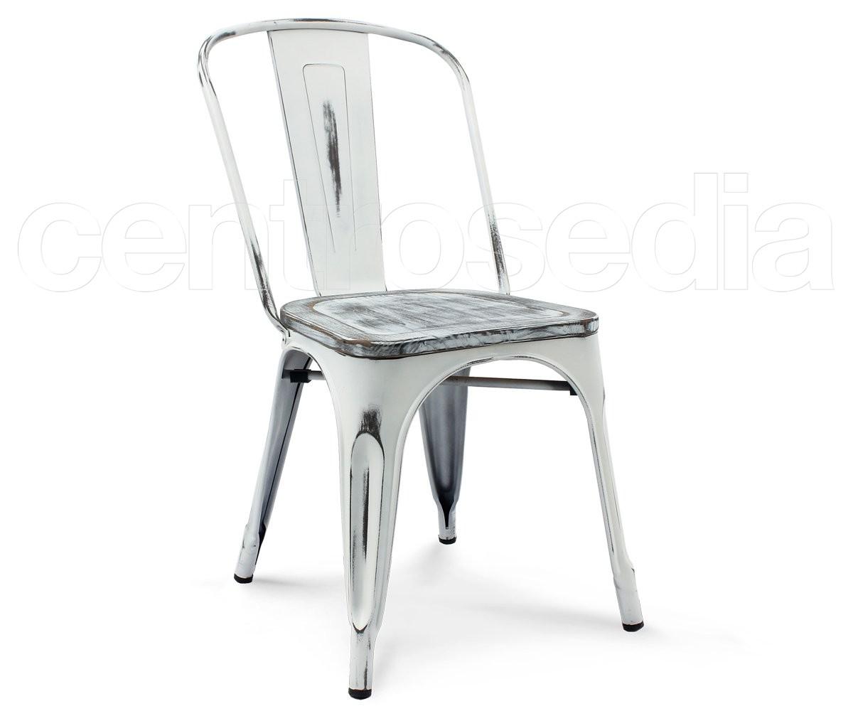 Virginia sedia metallo vintage retro 39 seduta legno sedie for Sedie in alluminio