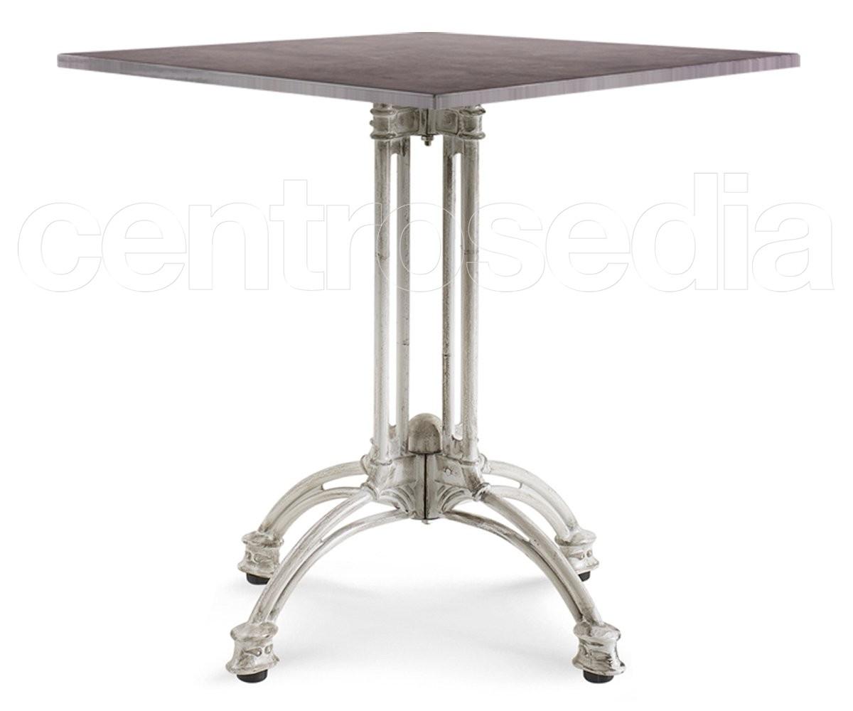 Great romeo tavolo alluminio bianco bamboo decapato with - Tavoli bianchi decapati ...