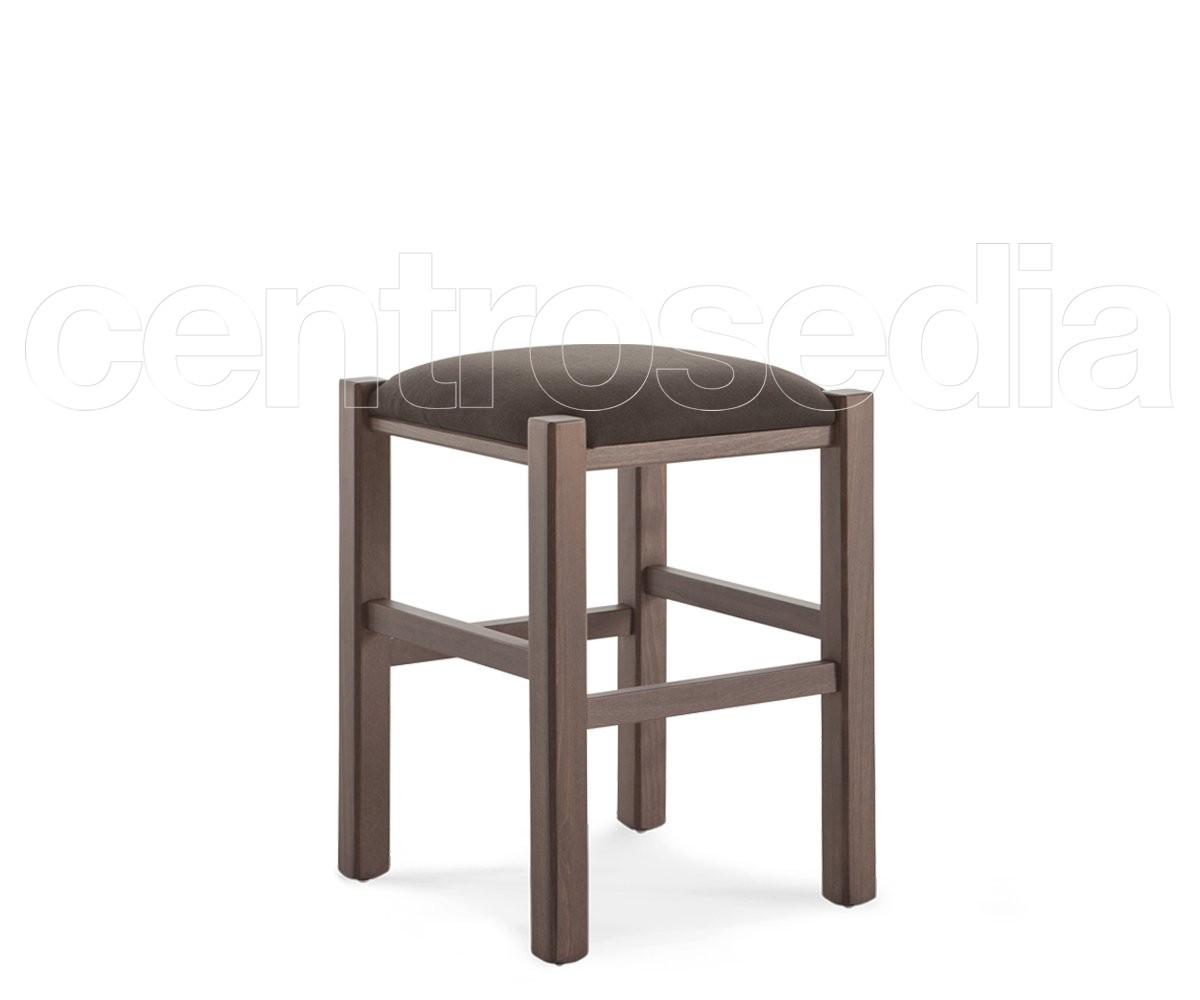 Rustico sgabello basso legno seduta imbottita sgabelli legno