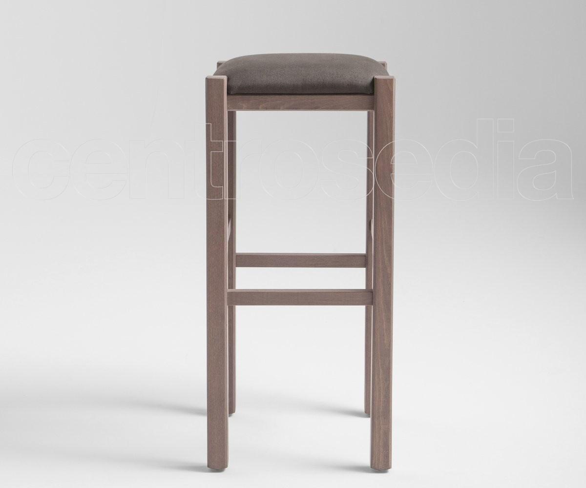Rustico sgabello alto legno seduta imbottita sgabelli legno
