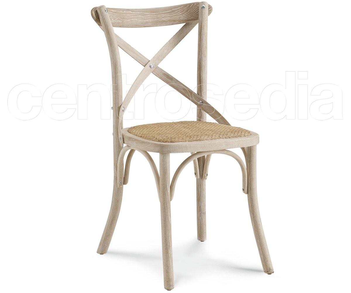 Cross sedia legno seduta rattan sedie legno classico e for Sedia design ebay