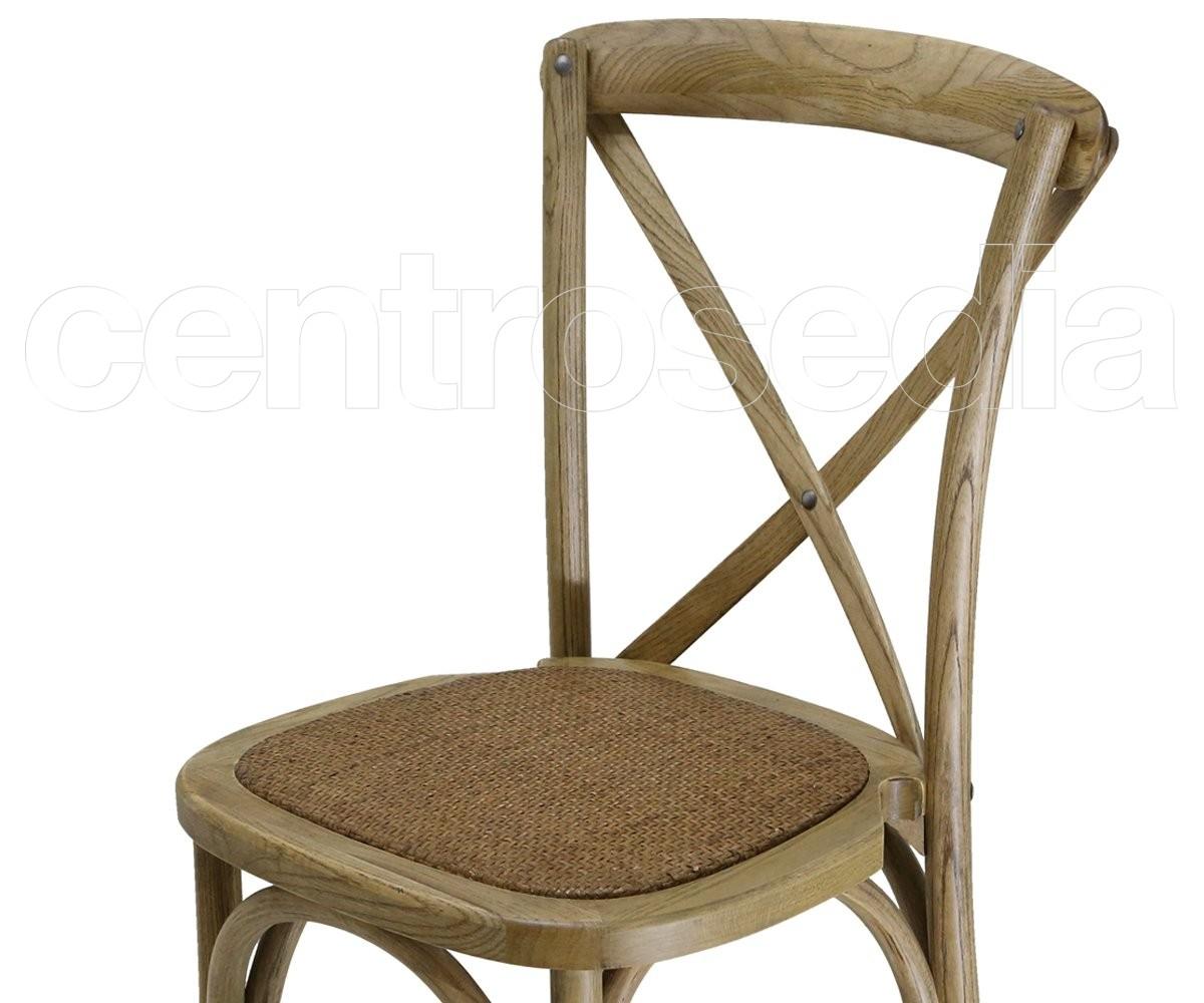 Cross sedia legno seduta rattan sedie legno classico e rustico