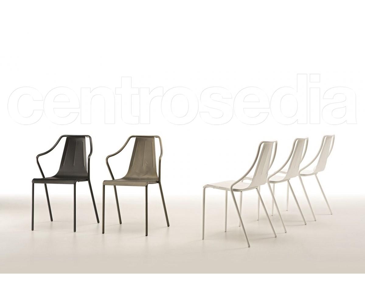 Ola Sedia Metallo Midj Sedie Design