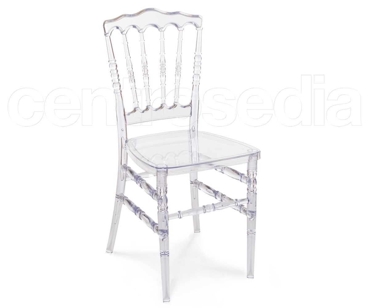 Napoleon sedia catering trasparente sedie catering for Sedie in policarbonato trasparente