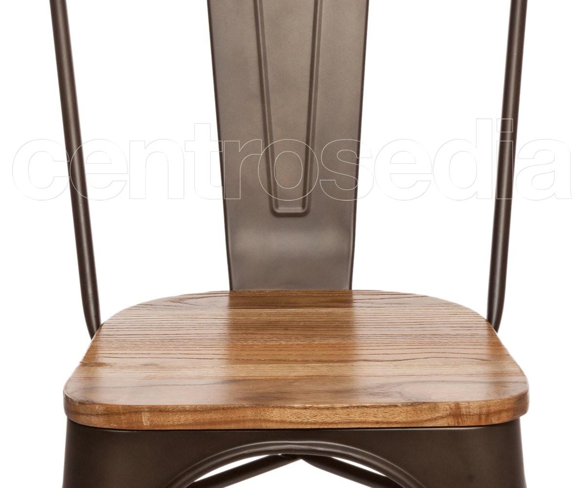 Virginia Sedia Metallo Old Style Seduta Legno Sedie Vintage E Industriali
