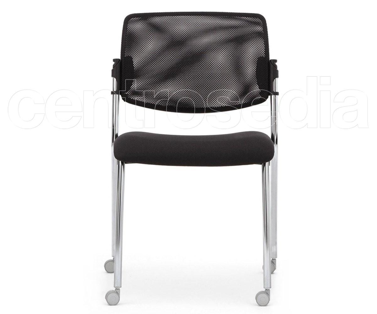 Plus sedia attesa su ruote metallo rete sedie attesa
