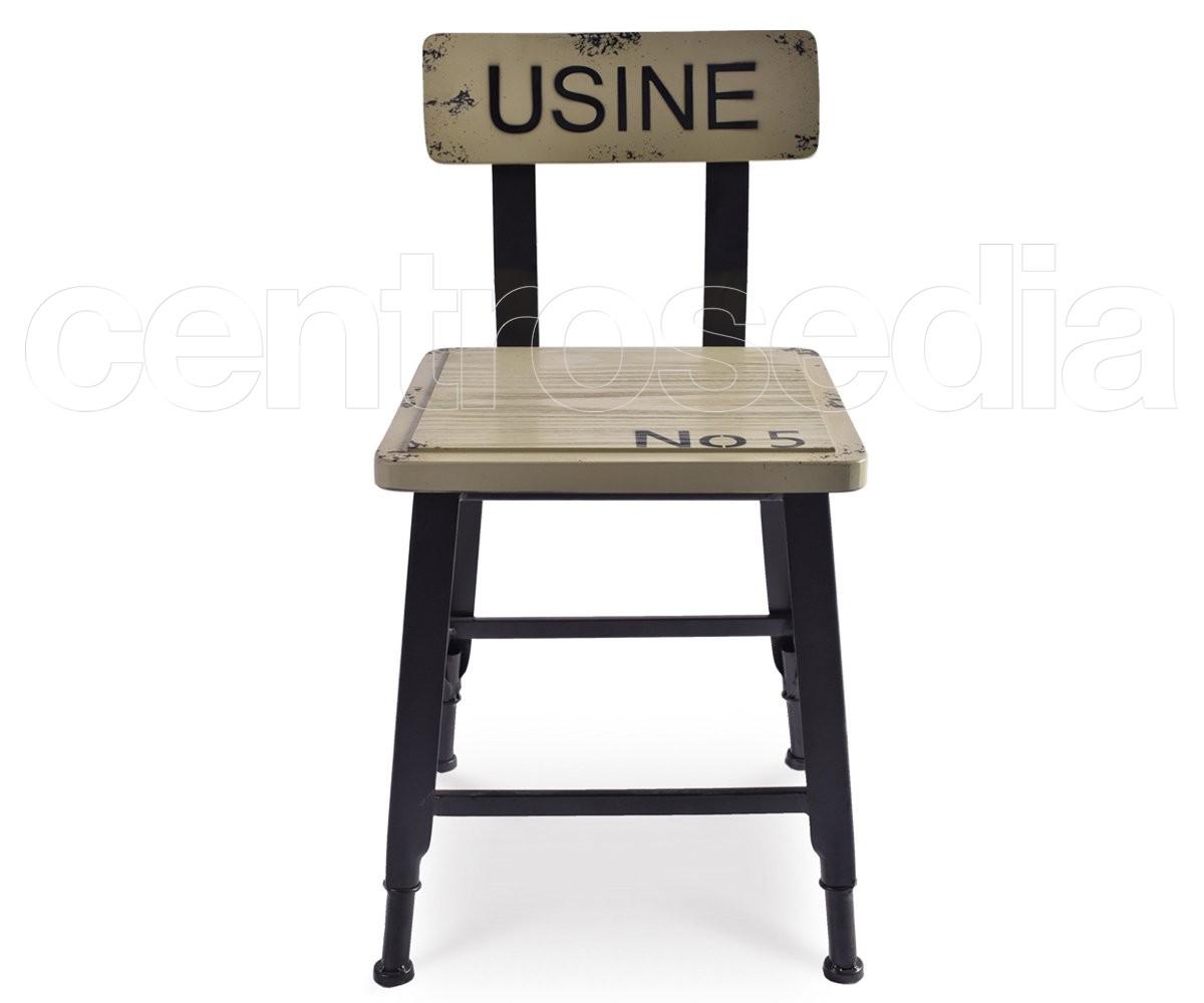 Sedie Schienale Alto Legno : Usine sedia metallo legno sedie vintage e industriali