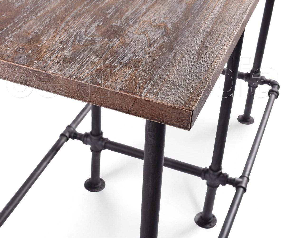 Tavoli Alti In Legno : Madison tavolo alto metallo piano legno tavoli alti vintage e