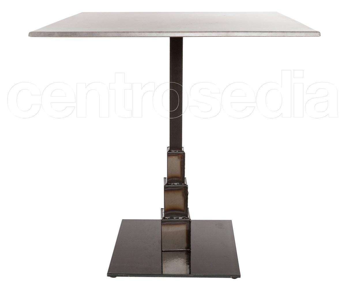 Tavolo Industriale Quadrato : Stone tavolo ghisa base quadrata tavoli vintage e industriali