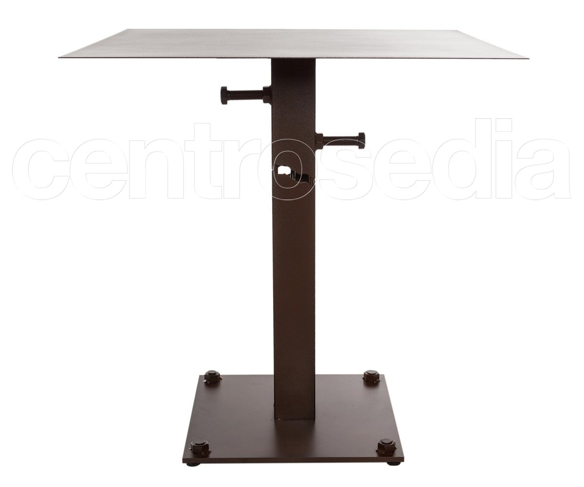 Tavolo Industriale Quadrato : Seattle tavolo metallo base quadrata tavoli vintage e industriali