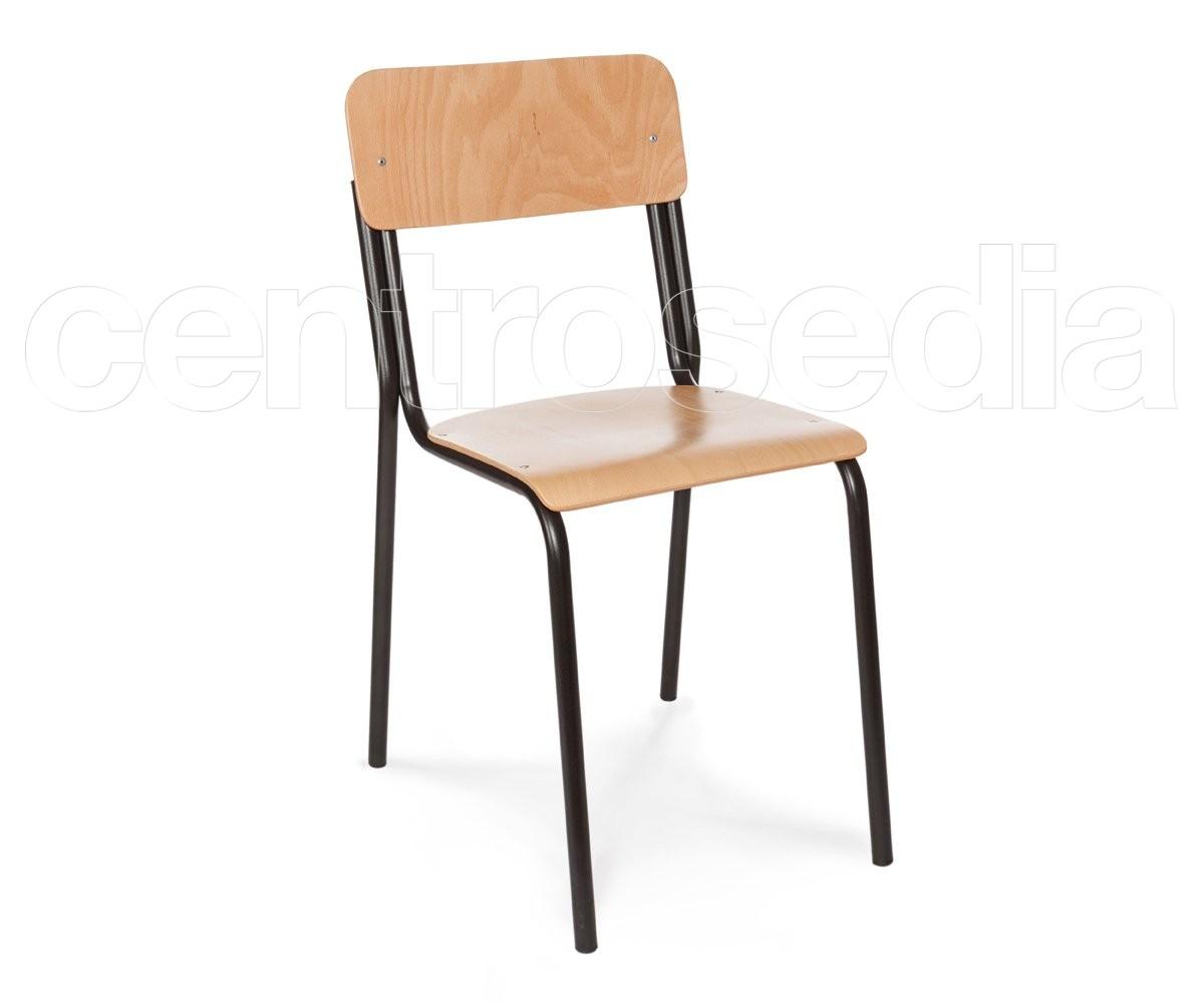 Studio sedia legno sedie aule laboratori mense for Sedia studio