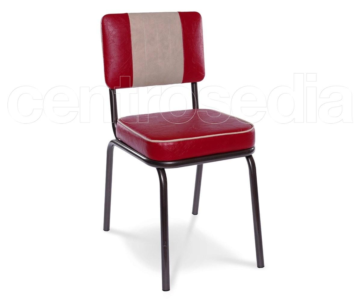 club sedia vintage metallo imbottito sedie vintage e