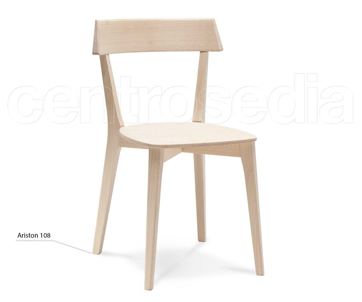 Ariston Sedia Legno - Seduta Legno - Sedie Design Legno