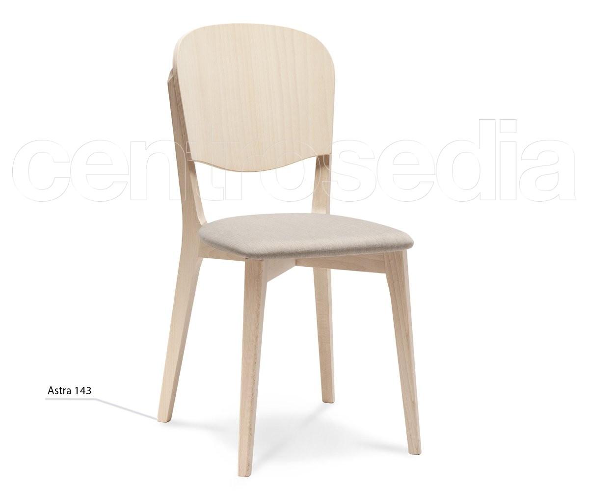 Astra Sedia Legno - Seduta imbottita - Sedie Design Legno