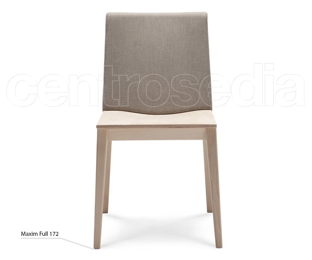 Sedie Schienale Alto Legno : Maxim full sedia legno seduta legno schienale imbottito