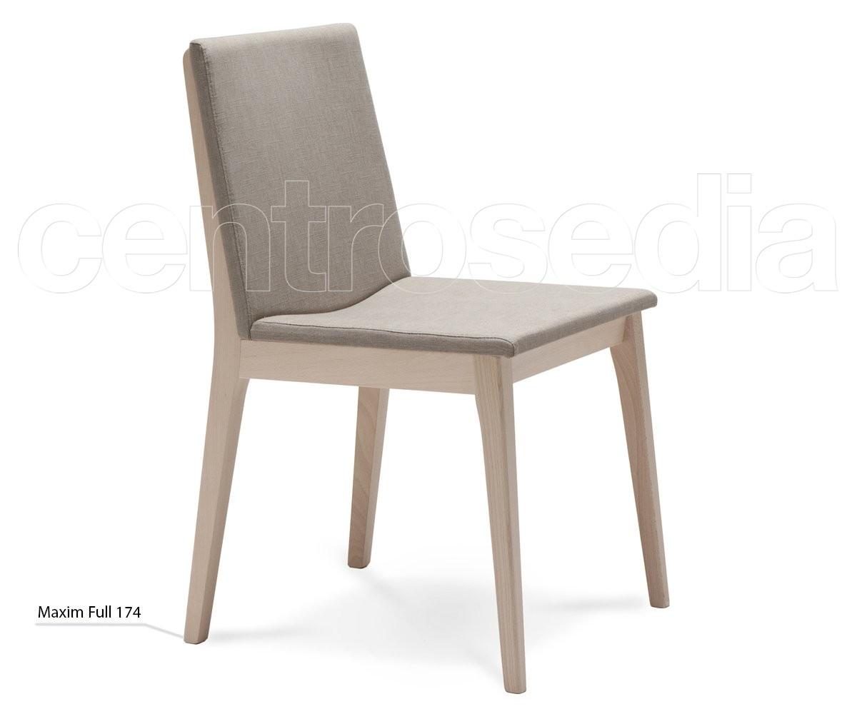 Maxim full sedia legno seduta imbottita sedie design legno - Sedia legno design ...