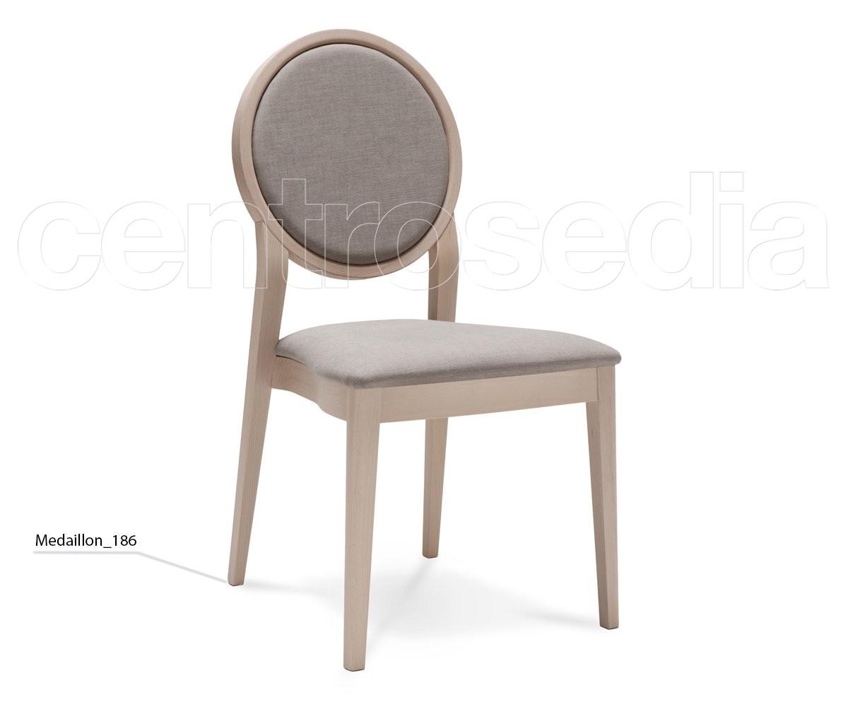 Medaillon Sedia Legno - Seduta imbottita - Sedie Design Legno