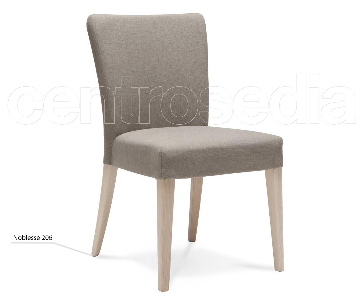 Noblesse sedia legno imbottita sedie design legno for Sedie design outlet