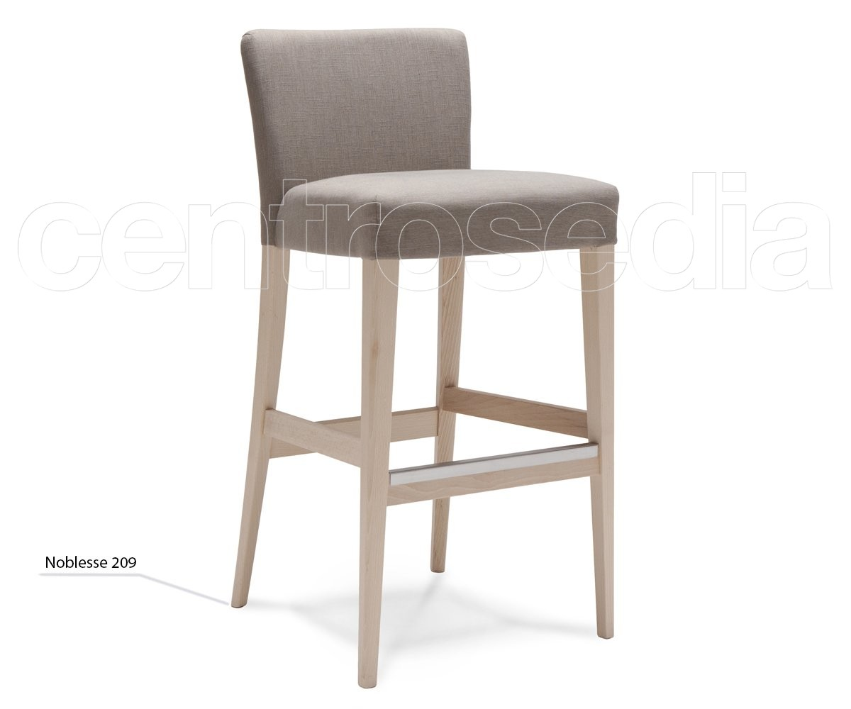 Sgabello In Legno Design : Noblesse sgabello legno imbottito sgabelli design legno