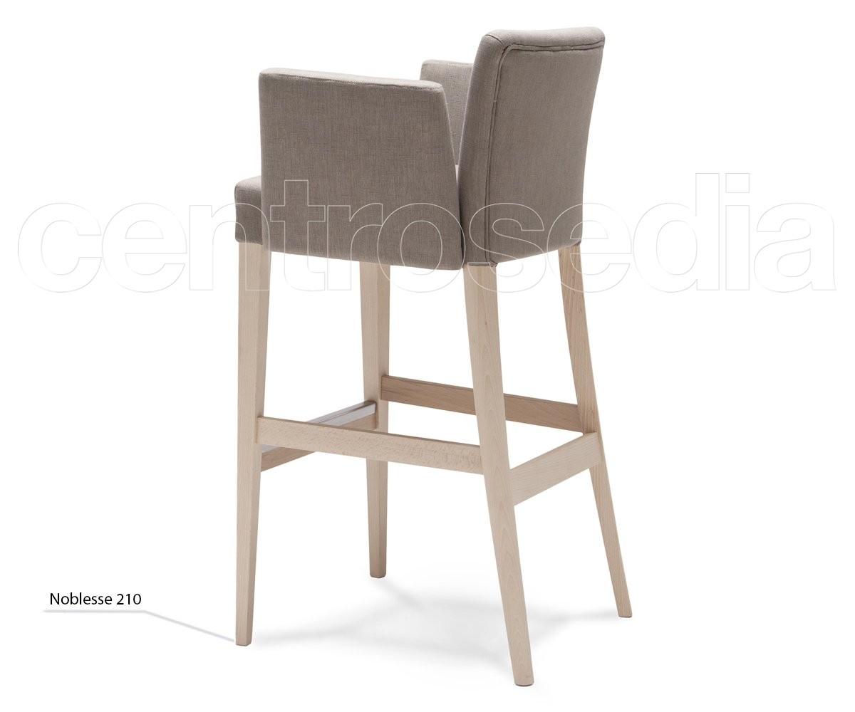 Noblesse sgabello legno imbottito con braccioli sgabelli design