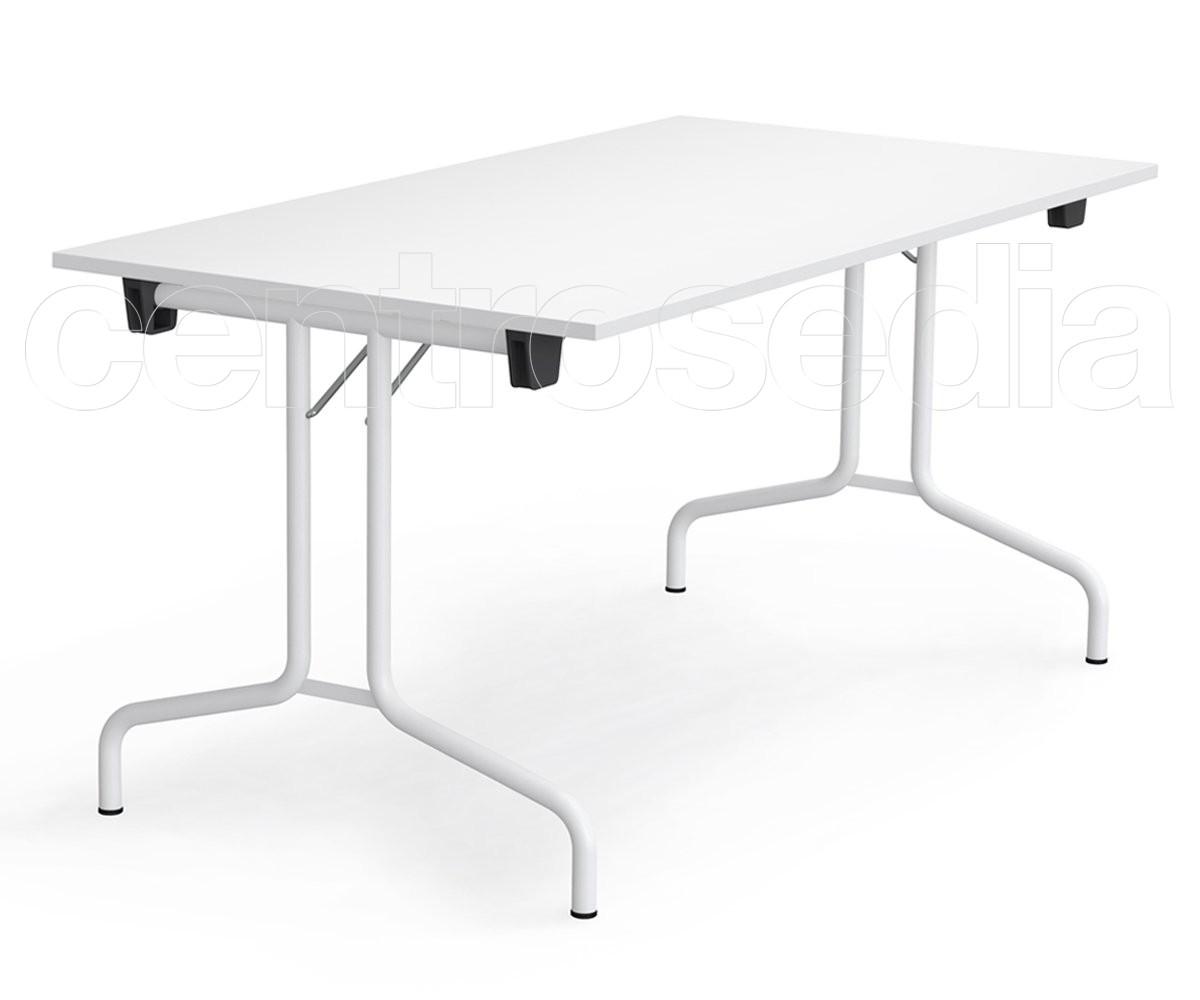 Ric tavolo pieghevole rettangolare tavoli pieghevoli o for Tavolo plastica pieghevole