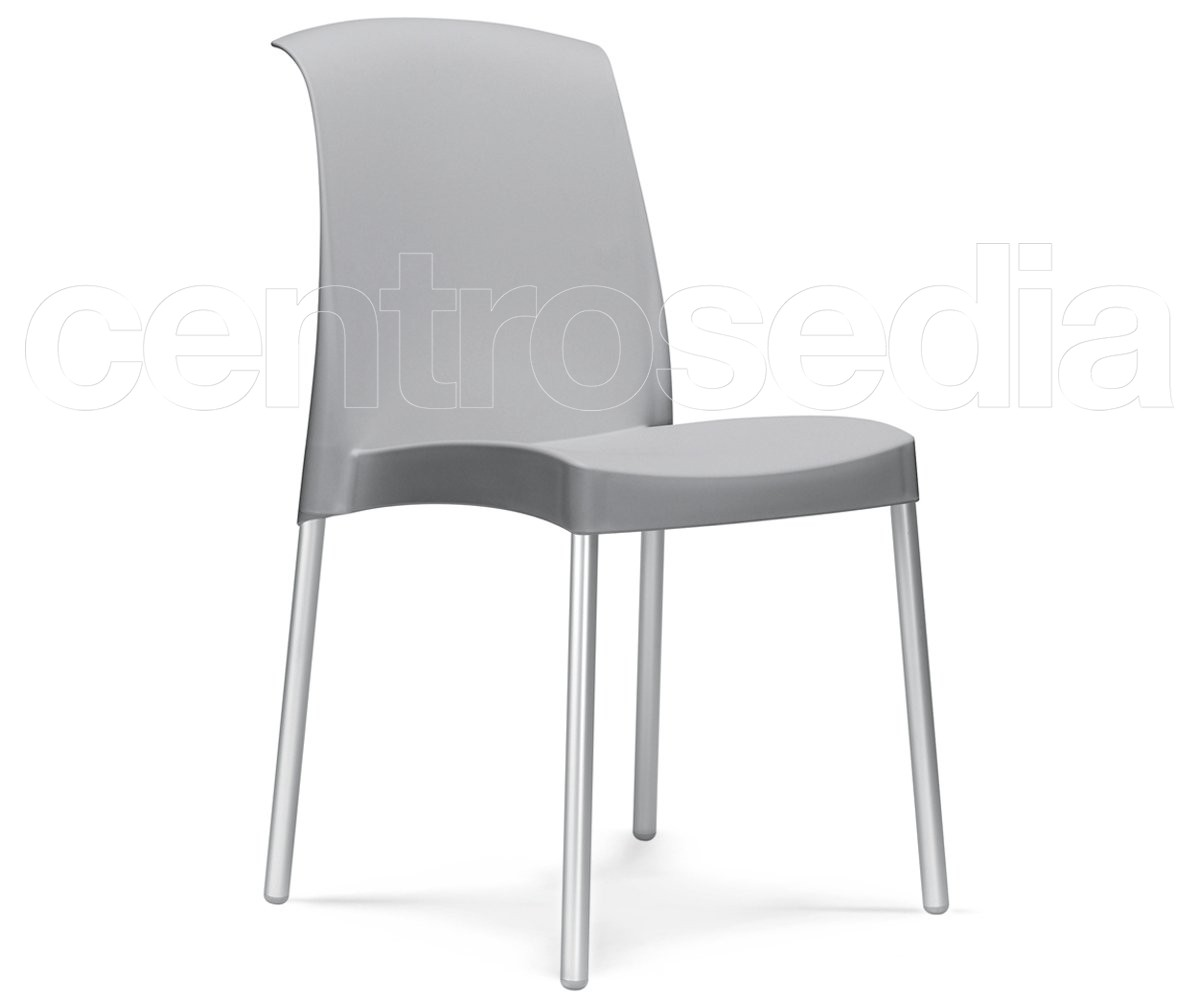 Jenny sedia alluminio polipropilene sedie design for Sedie alluminio design