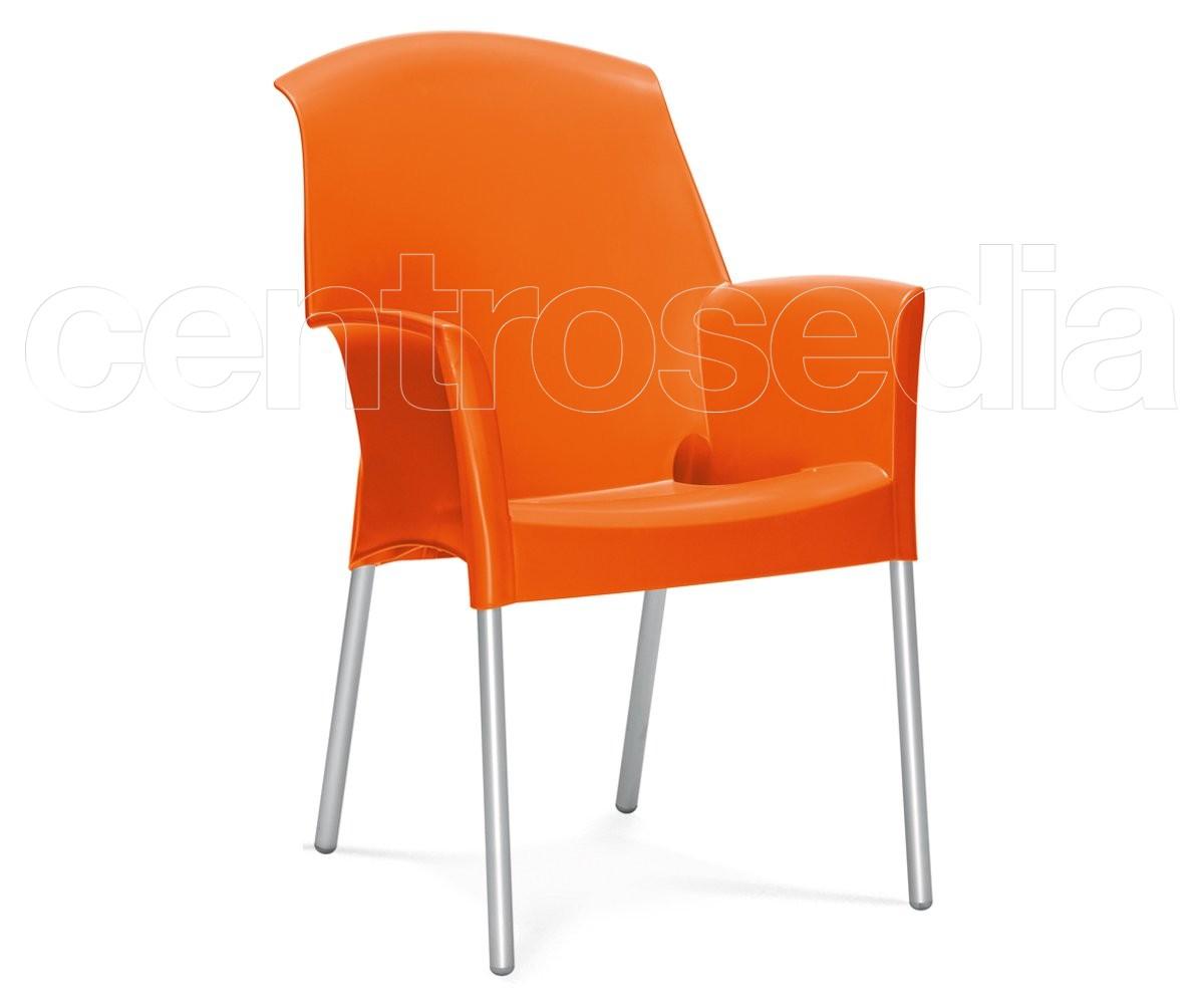 Super jenny poltroncina alluminio polipropilene sedie design for Sedie alluminio design