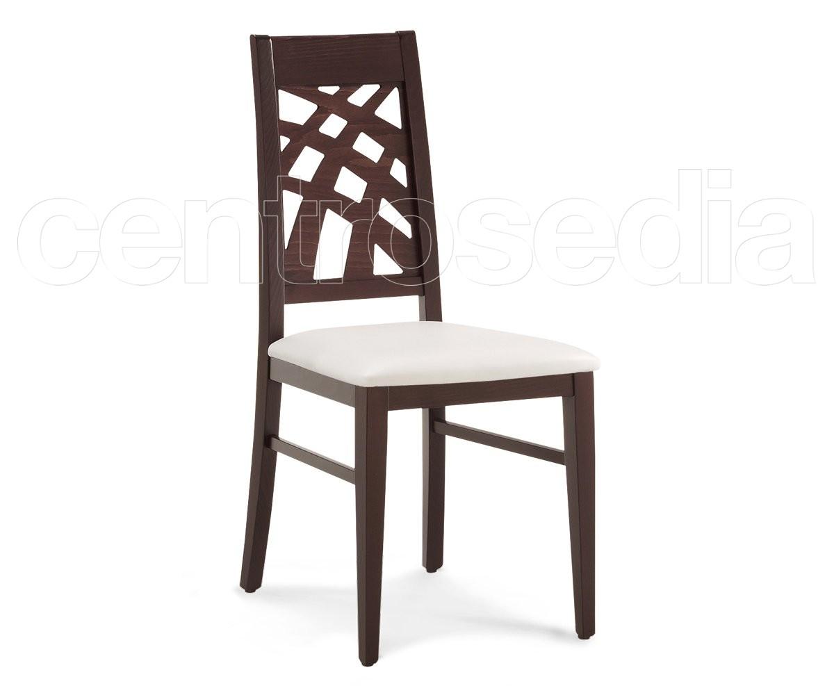 Inda sedia legno imbottito sedie legno moderno for Sedie design industriale