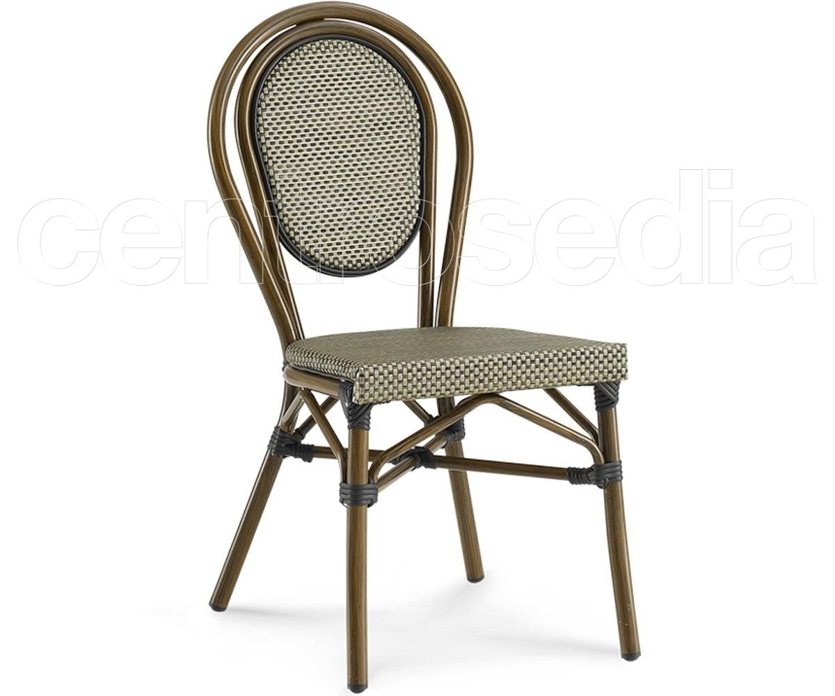 Tavoli In Finto Rattan.Degas Sedia Alluminio Textilene Sedie Alluminio Rattan Textilene