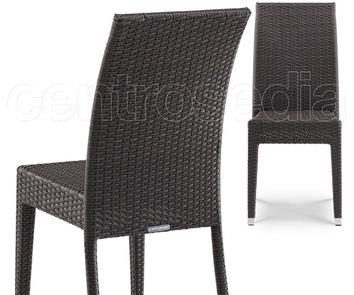 Miss Sedia Eco Rattan-Sedie Alluminio Rattan, Textilene