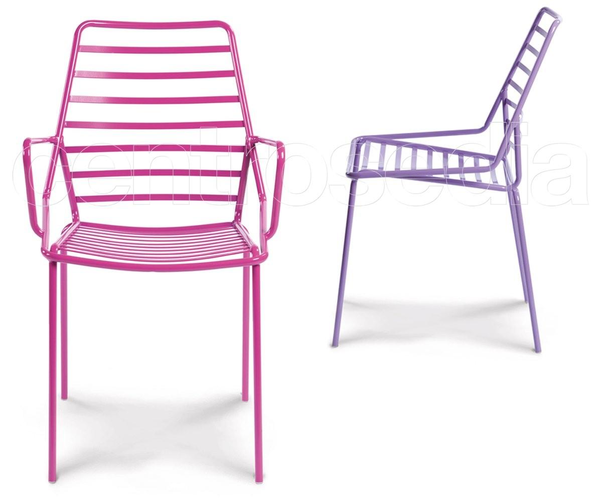 Link poltroncina metallo gaber sedie design for Sedie design metallo