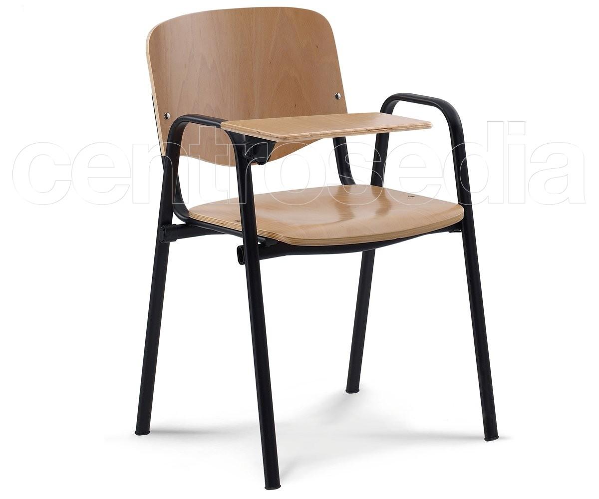 Iso poltroncina legno sedie tavoletta scrittoio ribaltina for Sedie a poltroncina