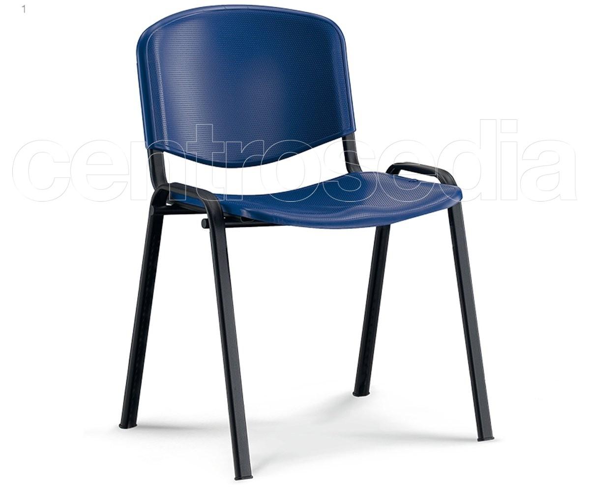 Iso sedia plastica sedie metallo plastica for Sedie impilabili plastica