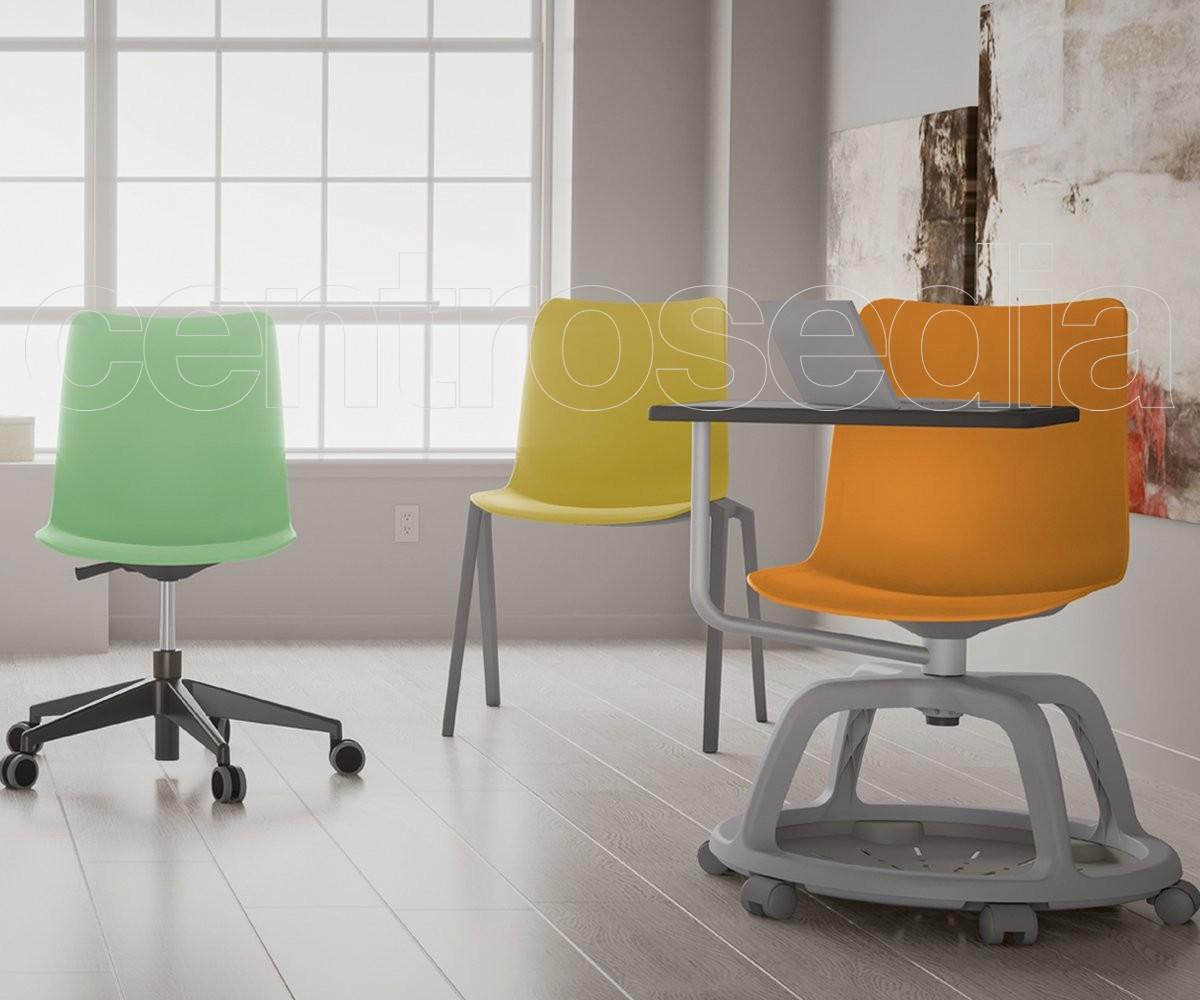 Sedie Ufficio Arancio : College seduta didattica girevole polipropilene sedie aule
