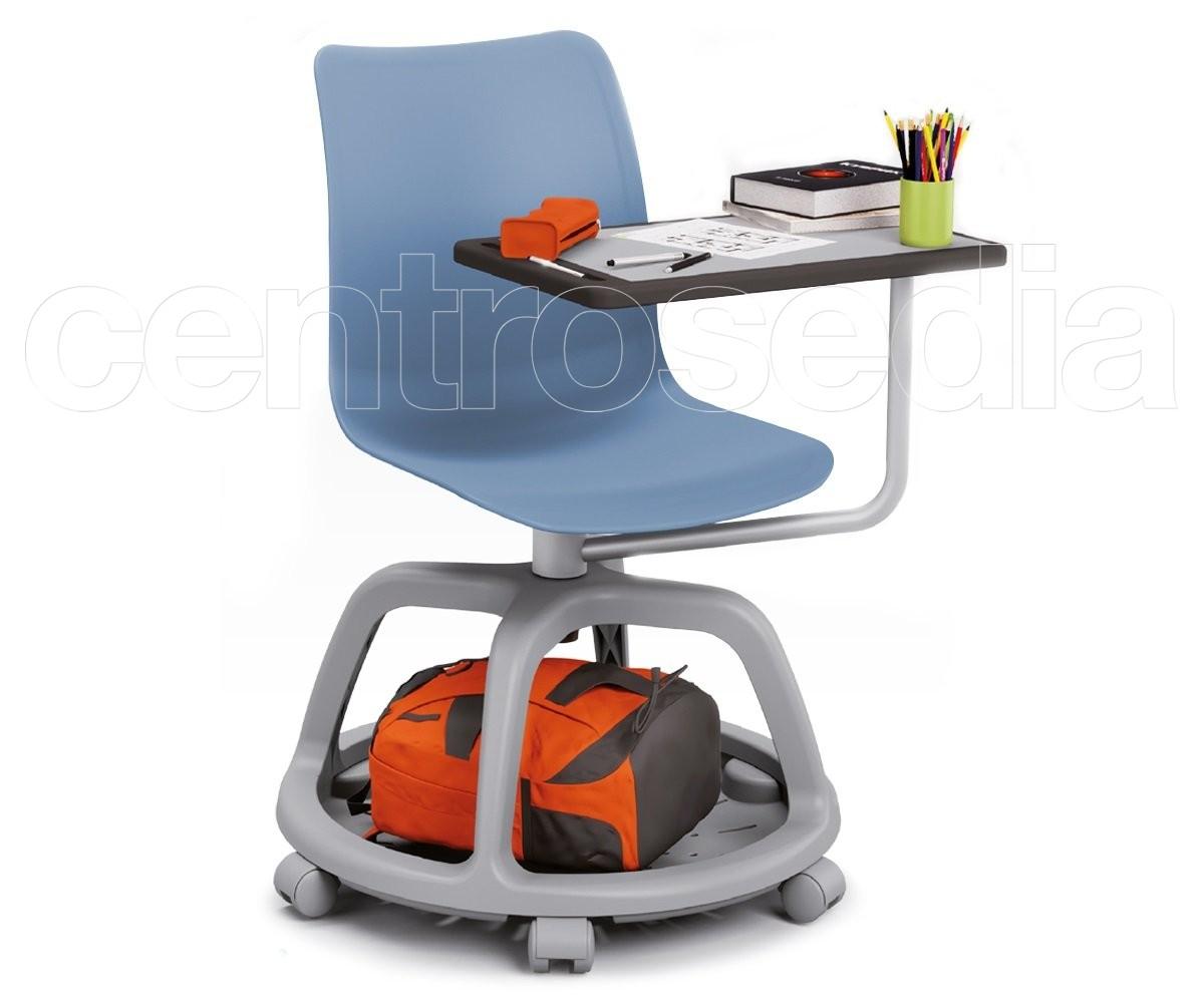 College seduta didattica girevole polipropilene sedie aule