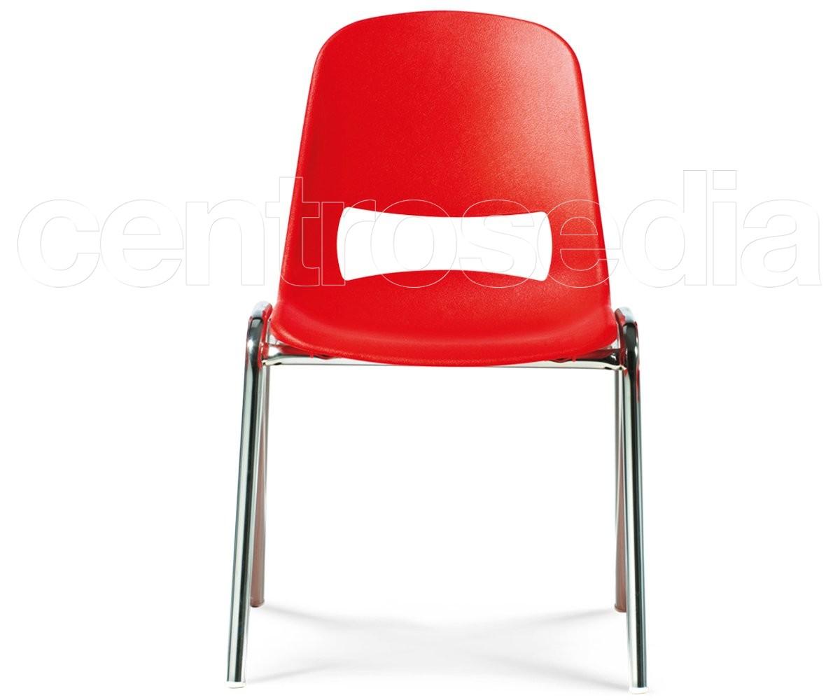 Minni sedia bambini metallo sedie aule laboratori mense - Sedia bambini regolabile ...