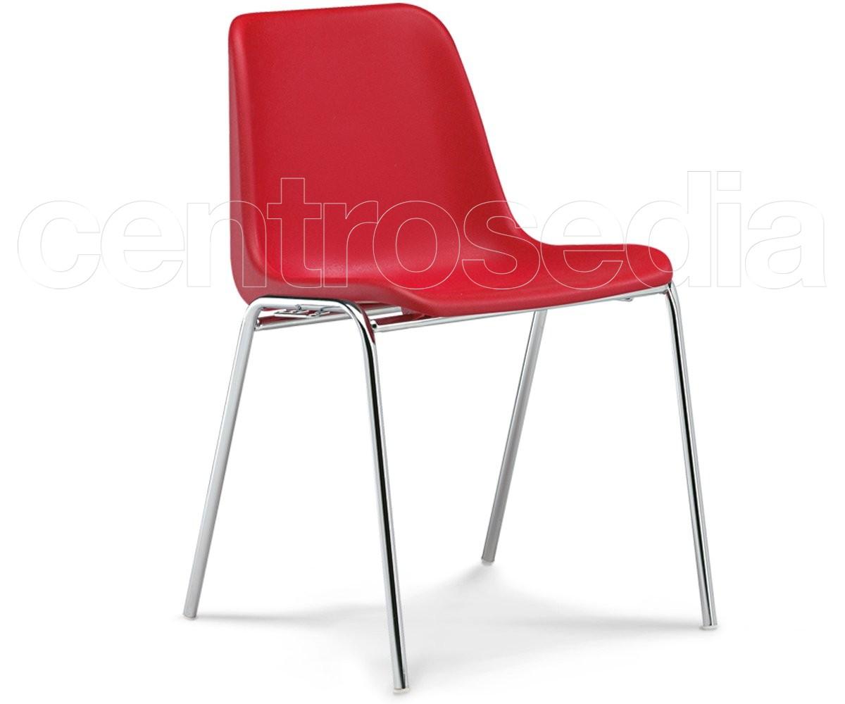 Sedie In Metallo E Plastica : Mono sedia plastica sedie metallo plastica