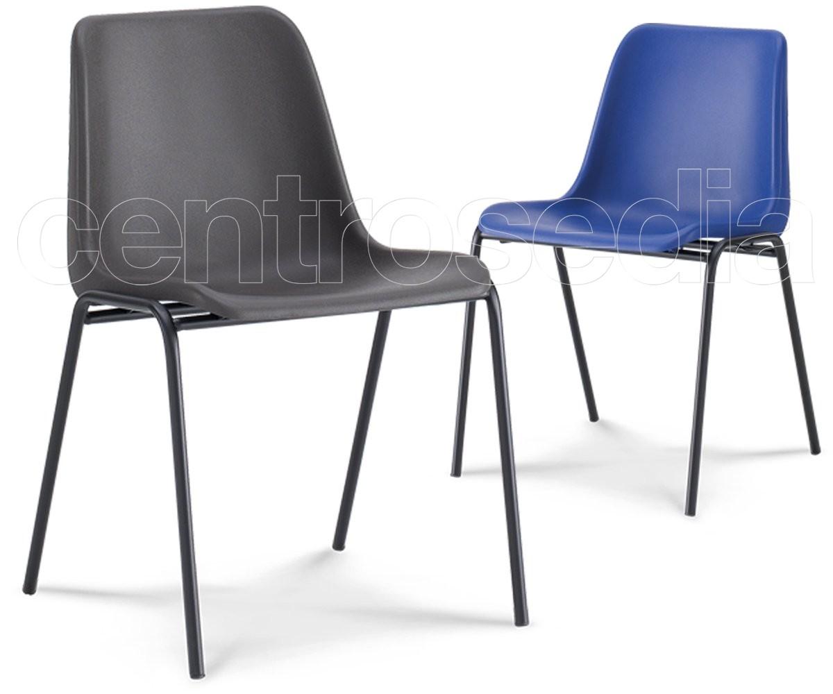 Mono sedia plastica sedie metallo plastica