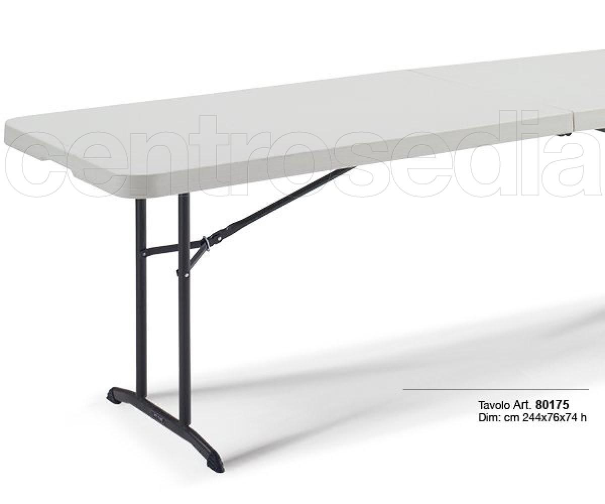 Lifetime 80175 tavolo pieghevole 244x76cm tavoli for Tavolo plastica ikea