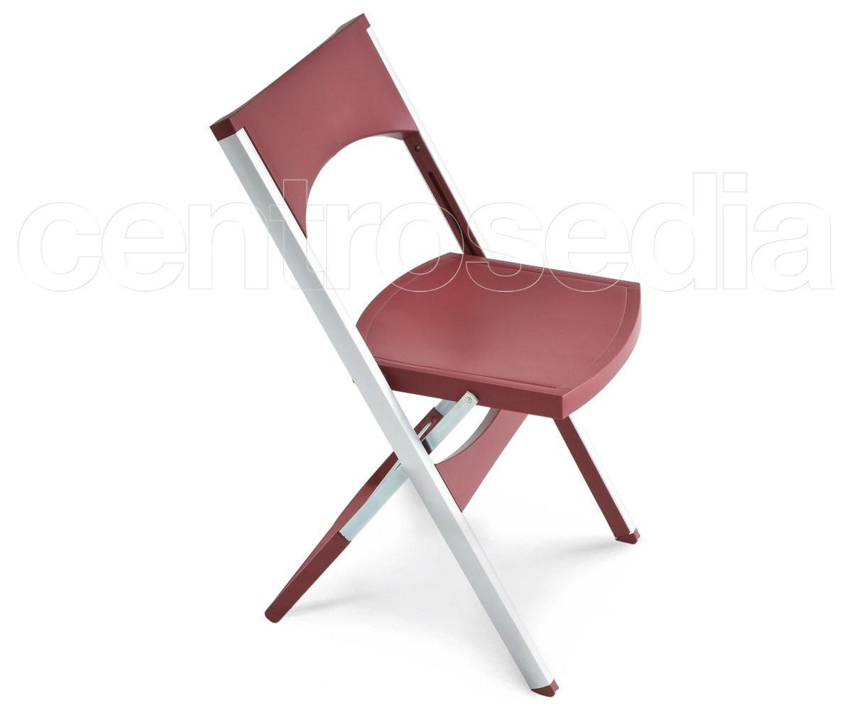 Compact sedia pieghevole tecnopolimero alluminio sedie design for Sedie alluminio design