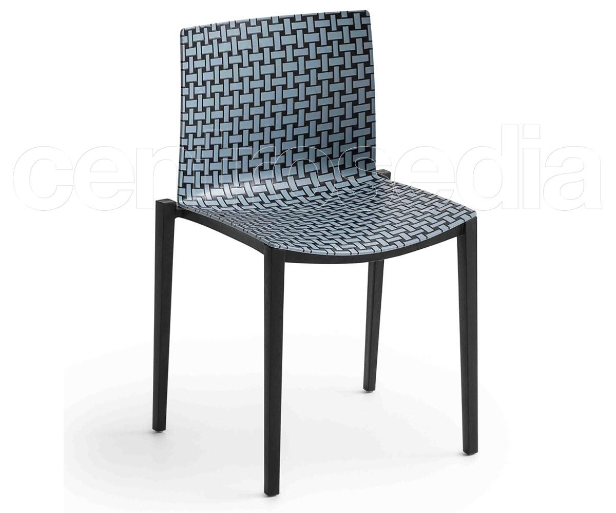 Clipperton blend sedia tecnopolimero gaber sedie design