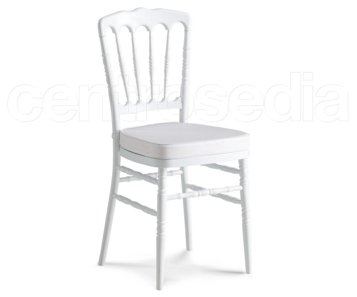Napoleon sedia polipropilene bianco rinforzata sedie plastica